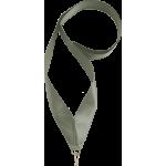 Лента атласная для медали серебро 25 мм