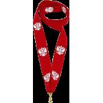 Лента для медали красная 22 мм с гербом
