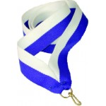 Лента для медали бело-синяя 11мм