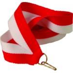 Лента для медали бело-красная 11 мм